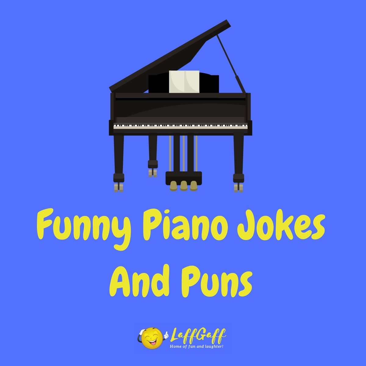 Featured image for a page of funny piano jokes and puns.