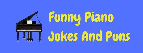 Header image for a page of funny piano jokes and puns.