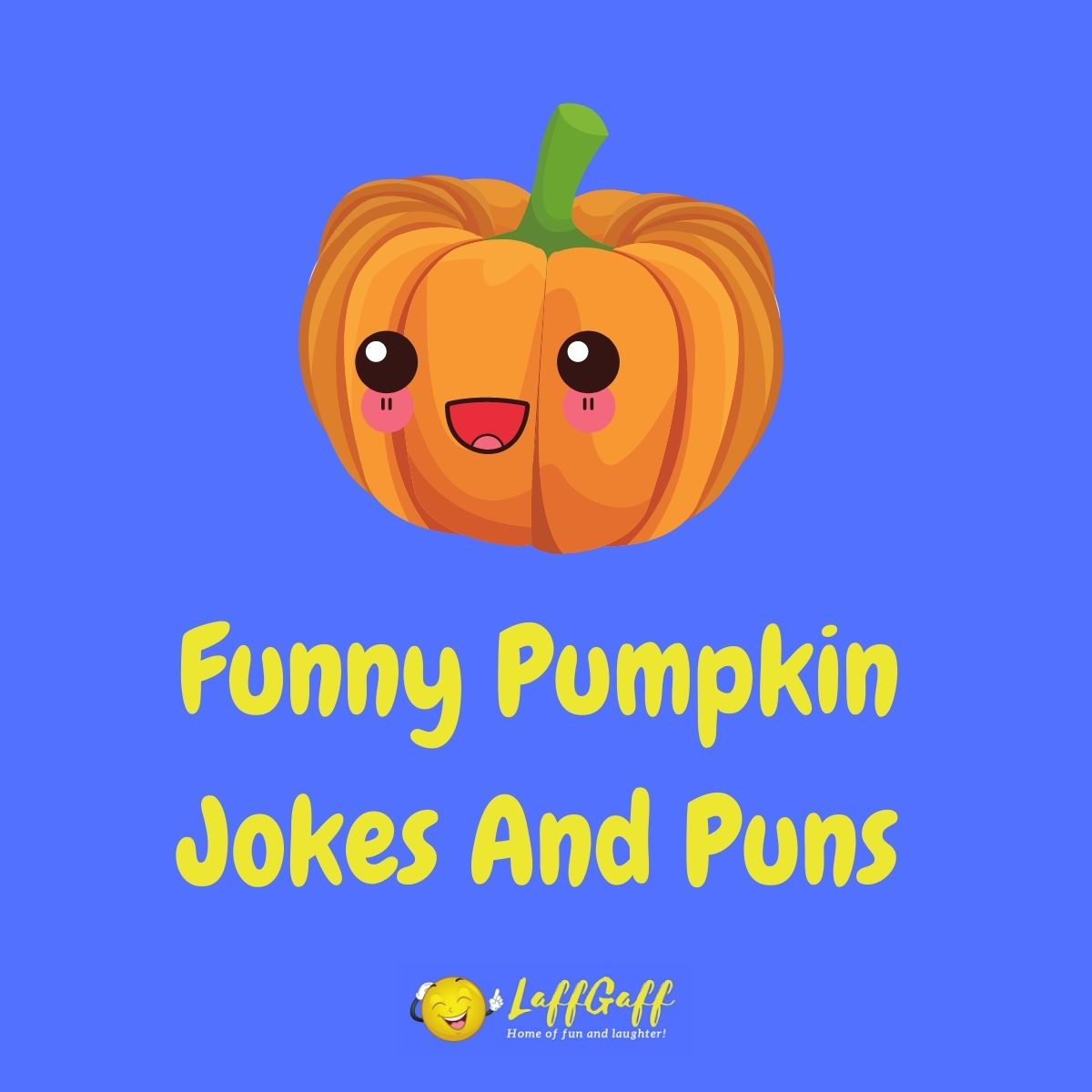 Featured image for a page of funny pumpkin jokes and puns.