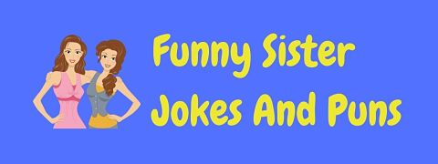 Header image for a page of funny sister jokes and puns.