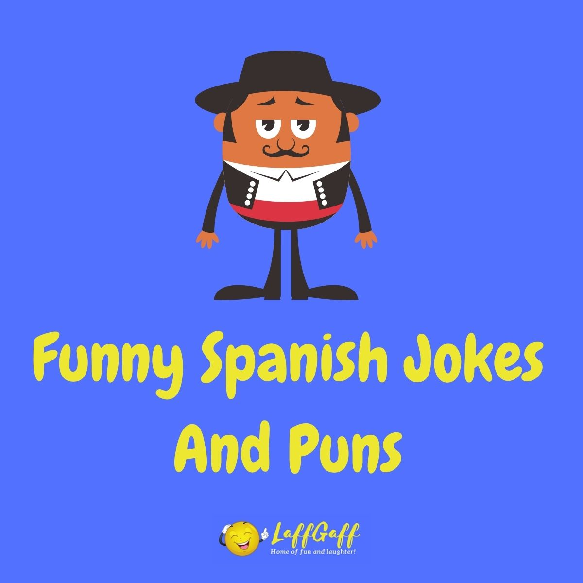 Featured image for a page of funny Spanish jokes and puns.
