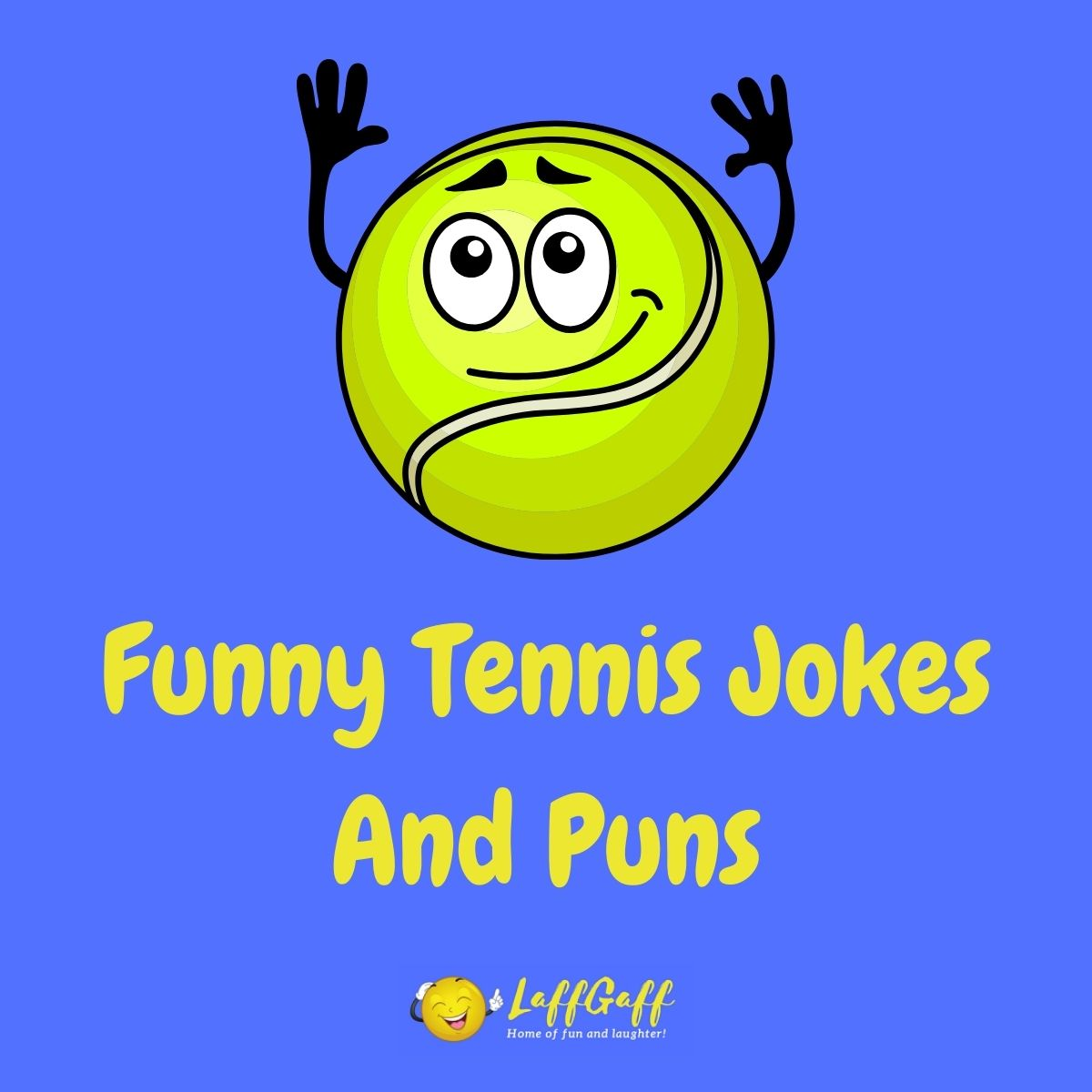 Featured image for a page of funny tennis jokes and puns.