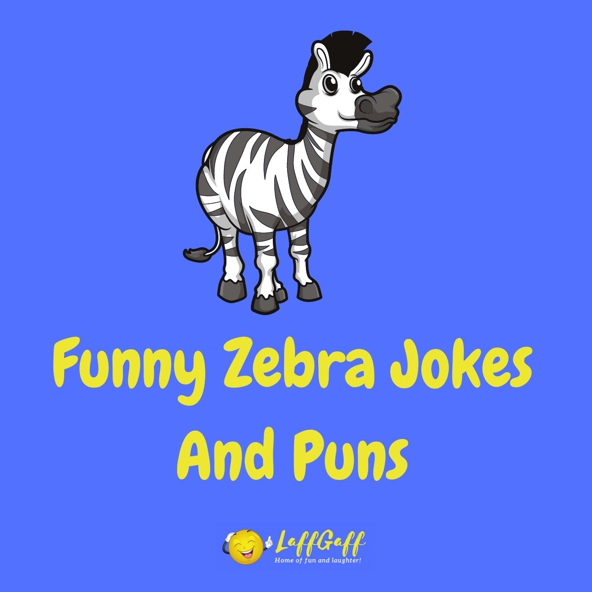 Featured image for a page of funny zebra jokes and puns.