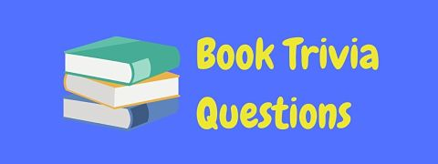 Header image for a page of book trivia questions and answers.