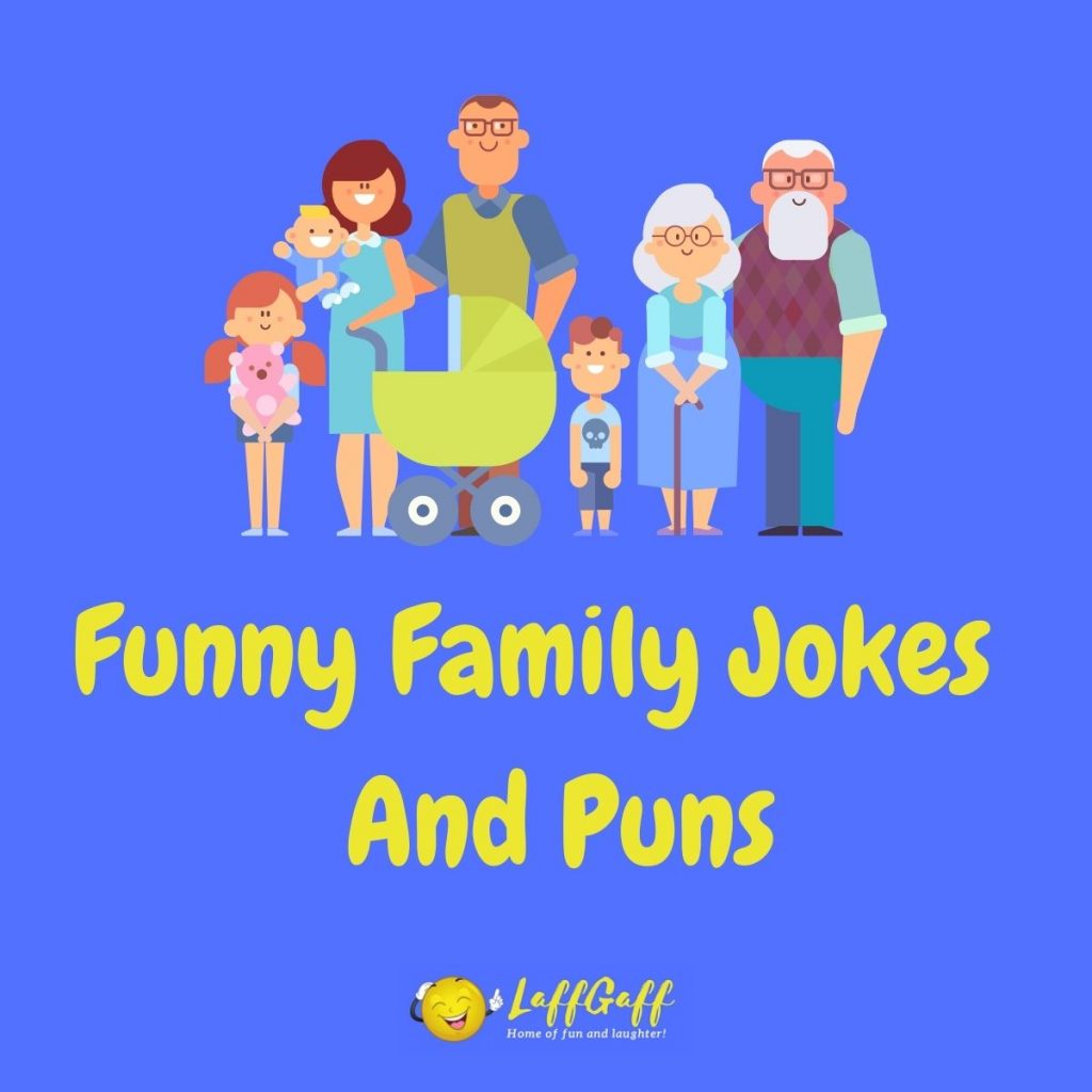 Featured image for a page of funny family jokes and puns.