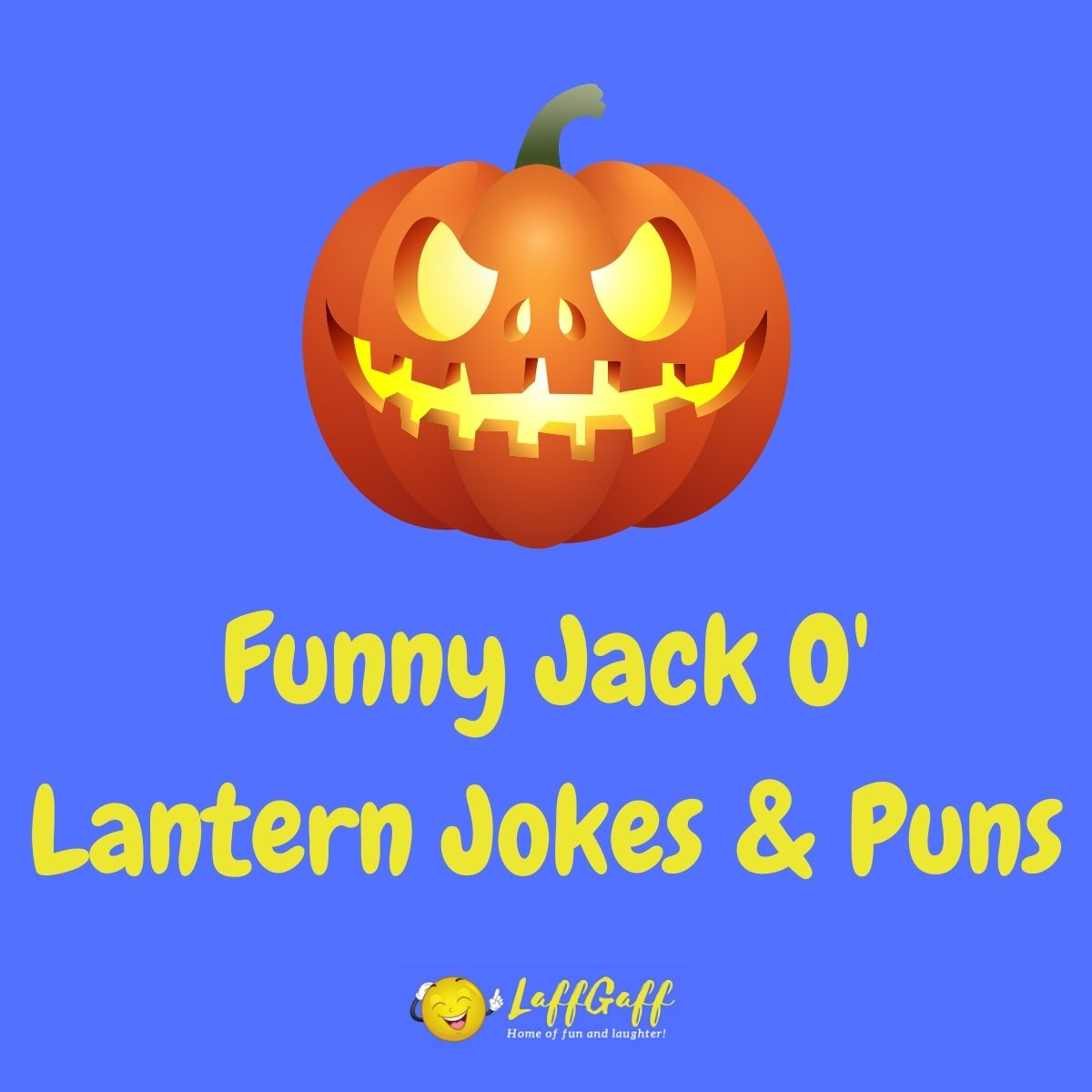 Featured image for a page of funny jack-o-lantern jokes and puns.