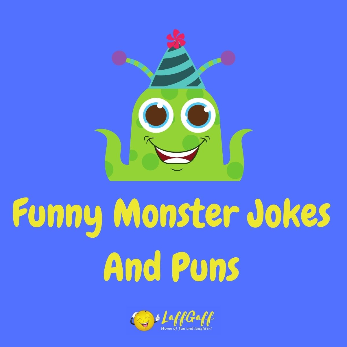 Featured image for a page of funny monster jokes and puns.