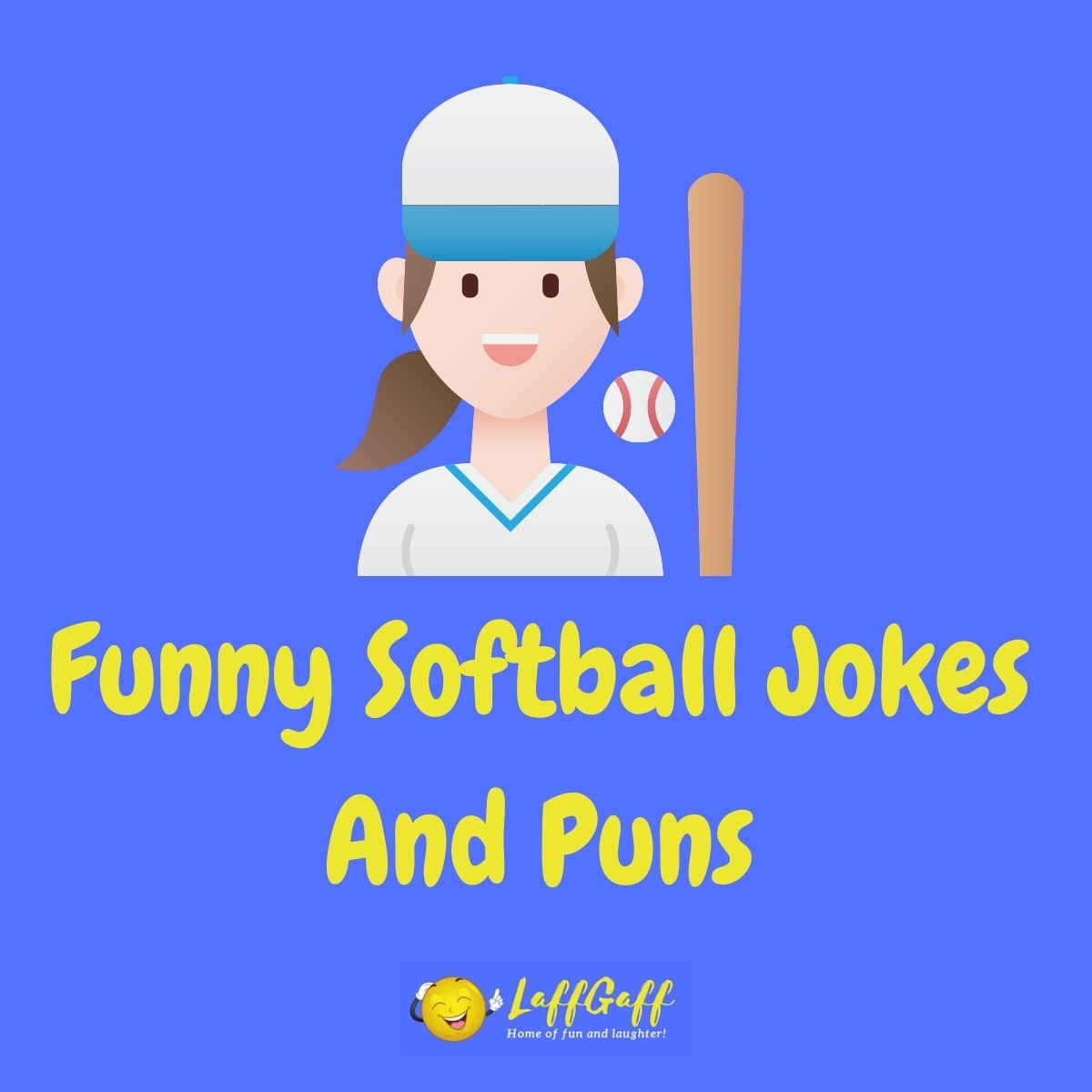 Featured image for a page of funny softball jokes and puns.