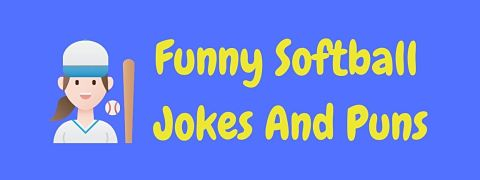 Header image for a page of funny softball jokes and puns.