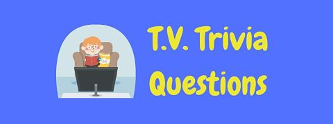 Header image for a page of T.V. trivia questions and answers.