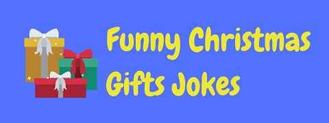 Header image for a page of funny Christmas gifts jokes.