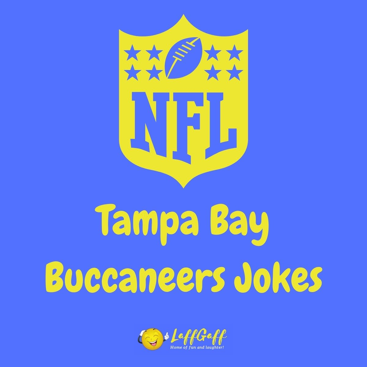 Featured image for a page of funny Tampa Bay Buccaneers jokes.