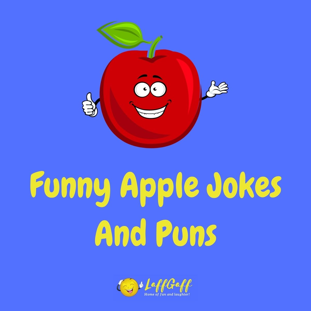 Featured image for a page of funny apple jokes and puns.