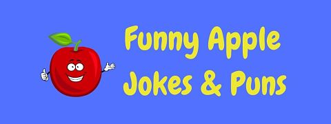 Header image for a page of funny apple jokes and puns.