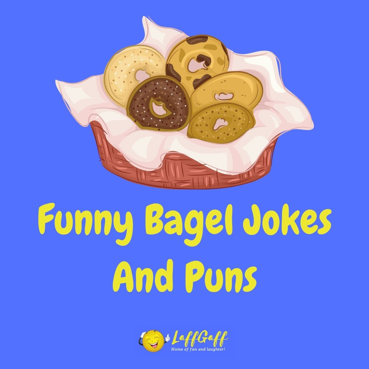 Featured image for a page of funny bagel jokes and puns.