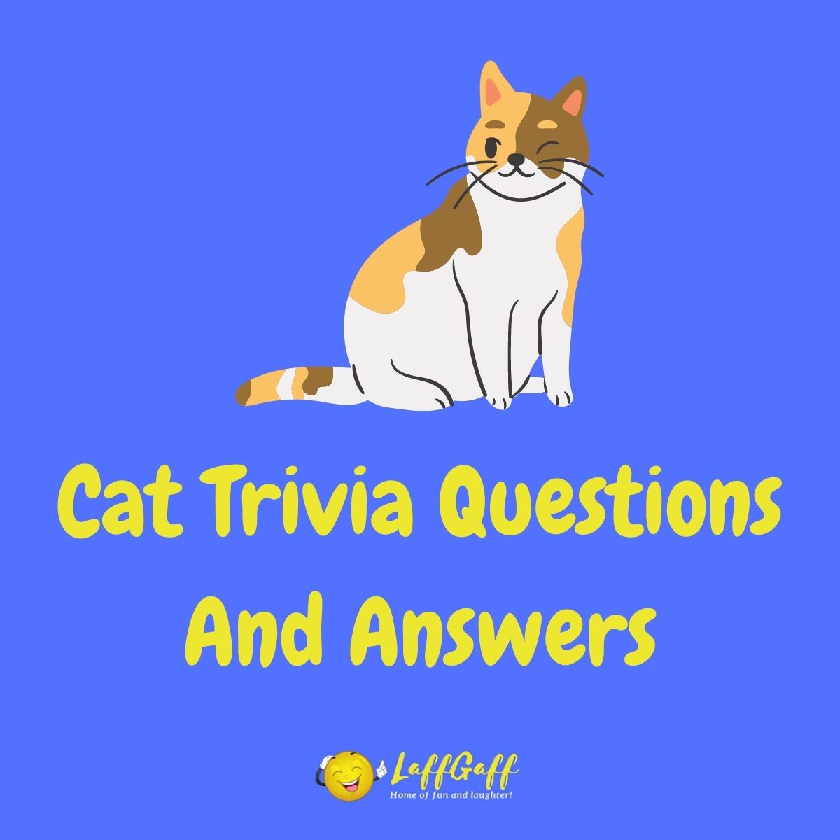 Featured image for a page of cat trivia questions and answers.