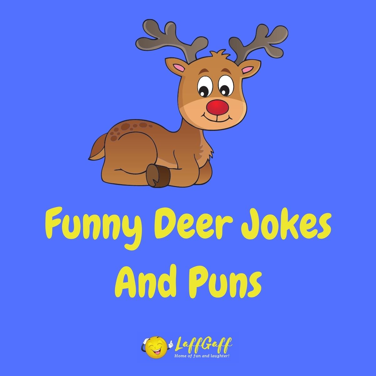 Featured image for a page of funny deer jokes and puns.