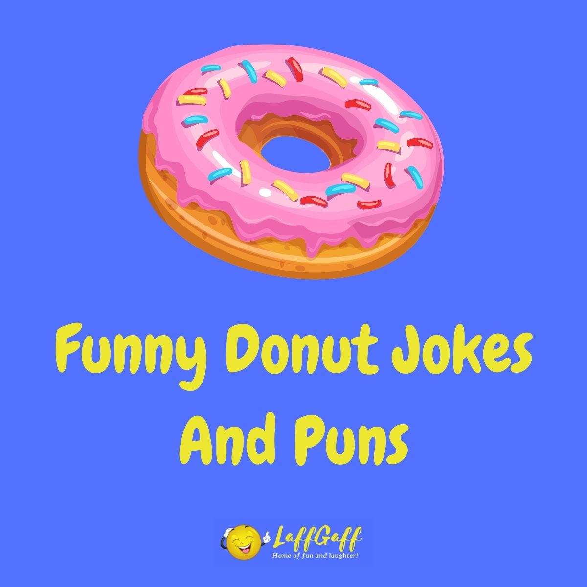 Featured image for a page of funny donut jokes and puns.