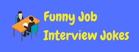 Header image for a page of funny job interview jokes.