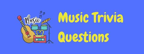 Header image for a page of music trivia questions.