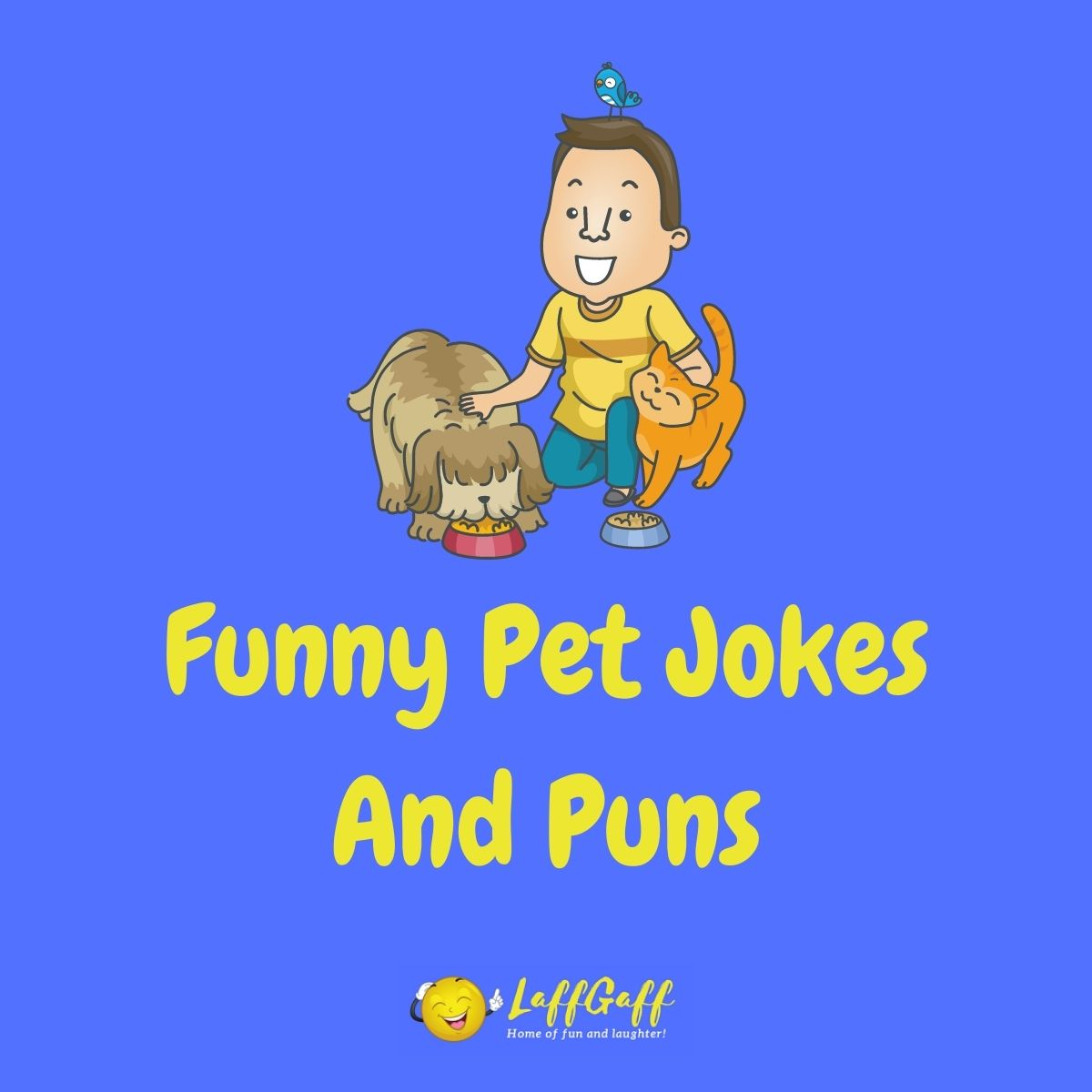 Featured image for a page of funny pet jokes and puns.