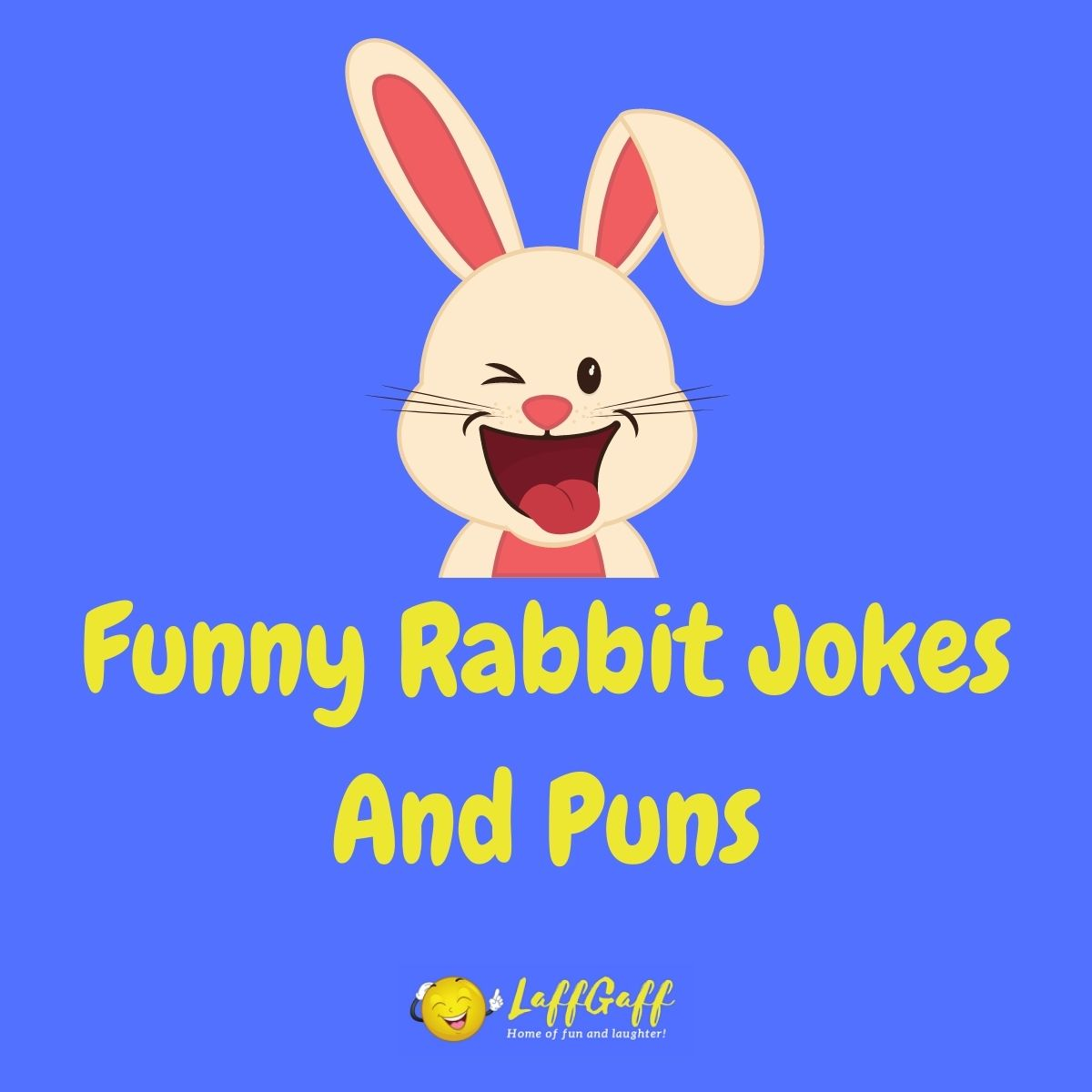 Featured image for a page of funny rabbit jokes and puns.
