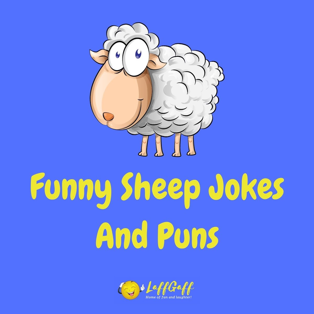 Featured image for a page of funny sheep jokes and puns.