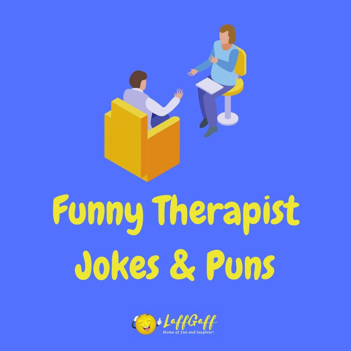 Featured image for a page of funny therapy jokes and puns.