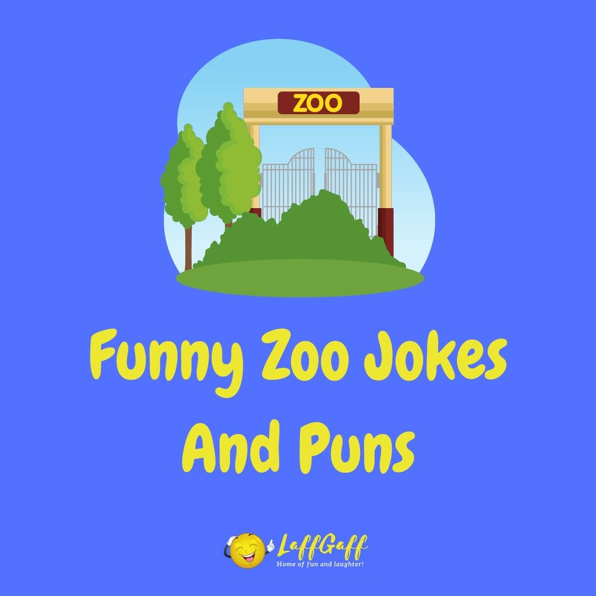 Featured image for a page of funny zoo jokes and puns.