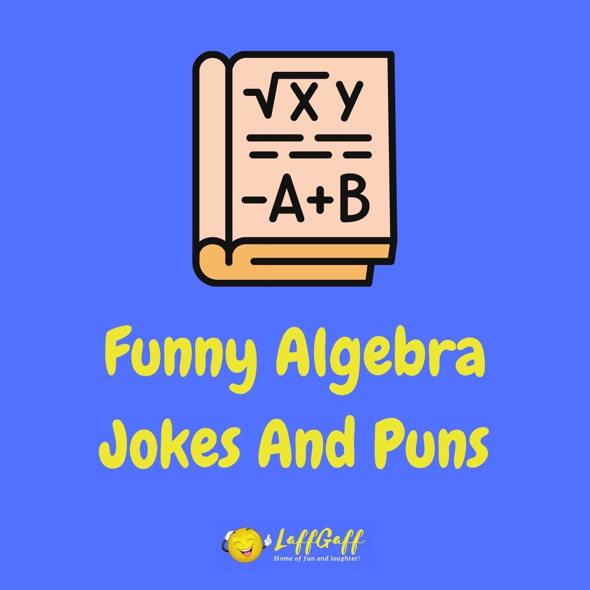 Featured image for a page of funny algebra jokes and puns.