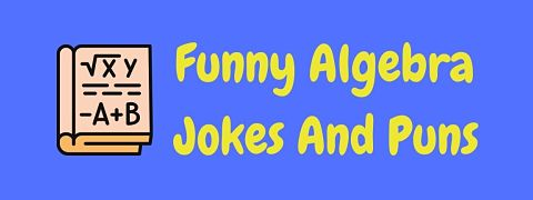 Header image for a page of funny algebra jokes and puns.