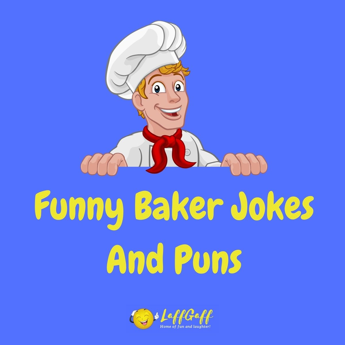 Featured image for a page of funny baker jokes and puns.