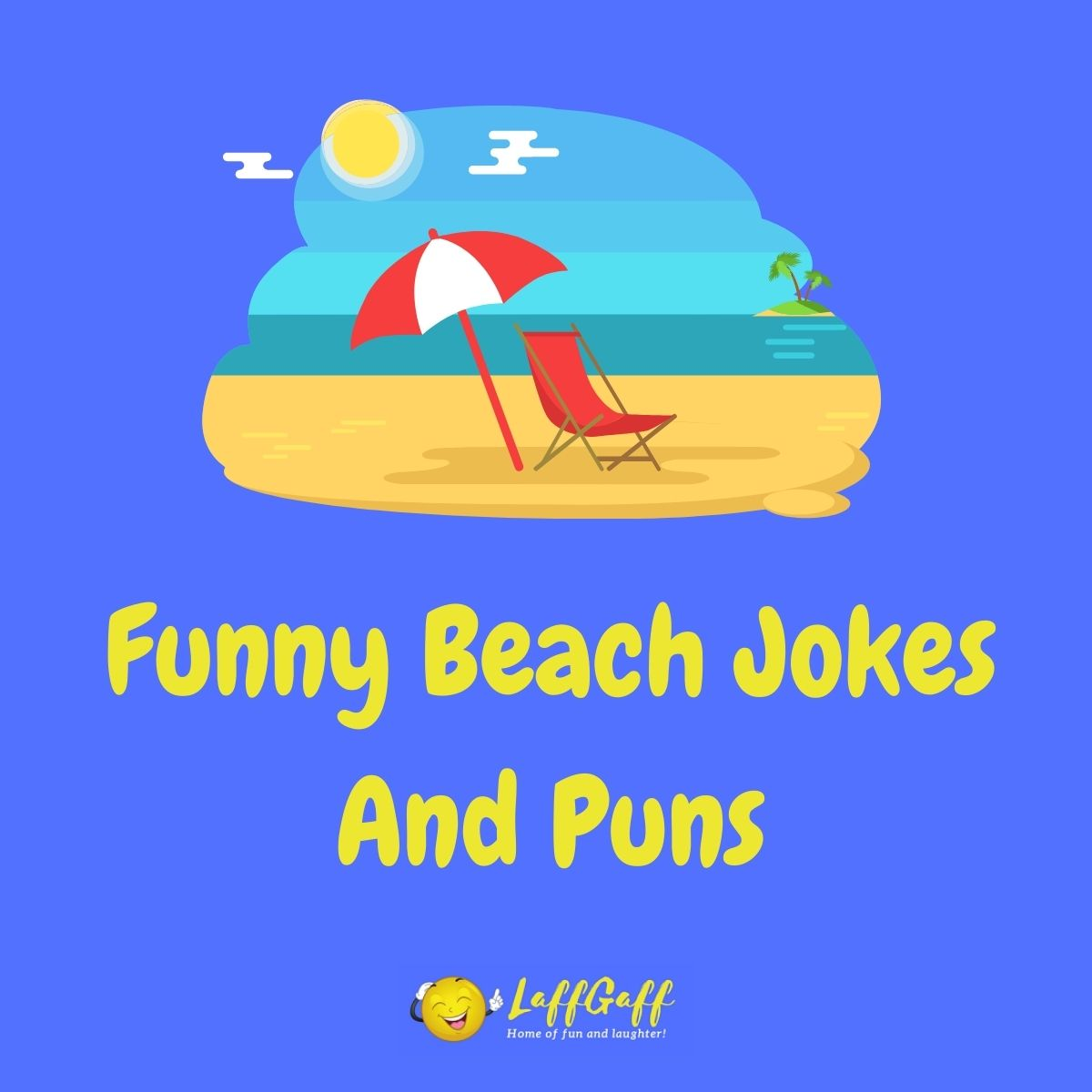 Featured image for a page of funny beach jokes and puns.