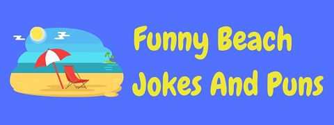Header image for a page of funny beach jokes and puns.