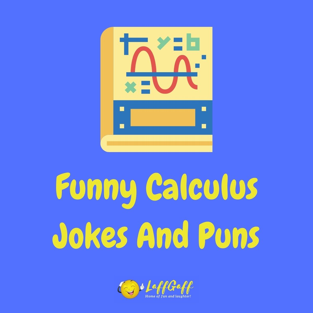 Featured image for a page of funny calculus jokes and puns.