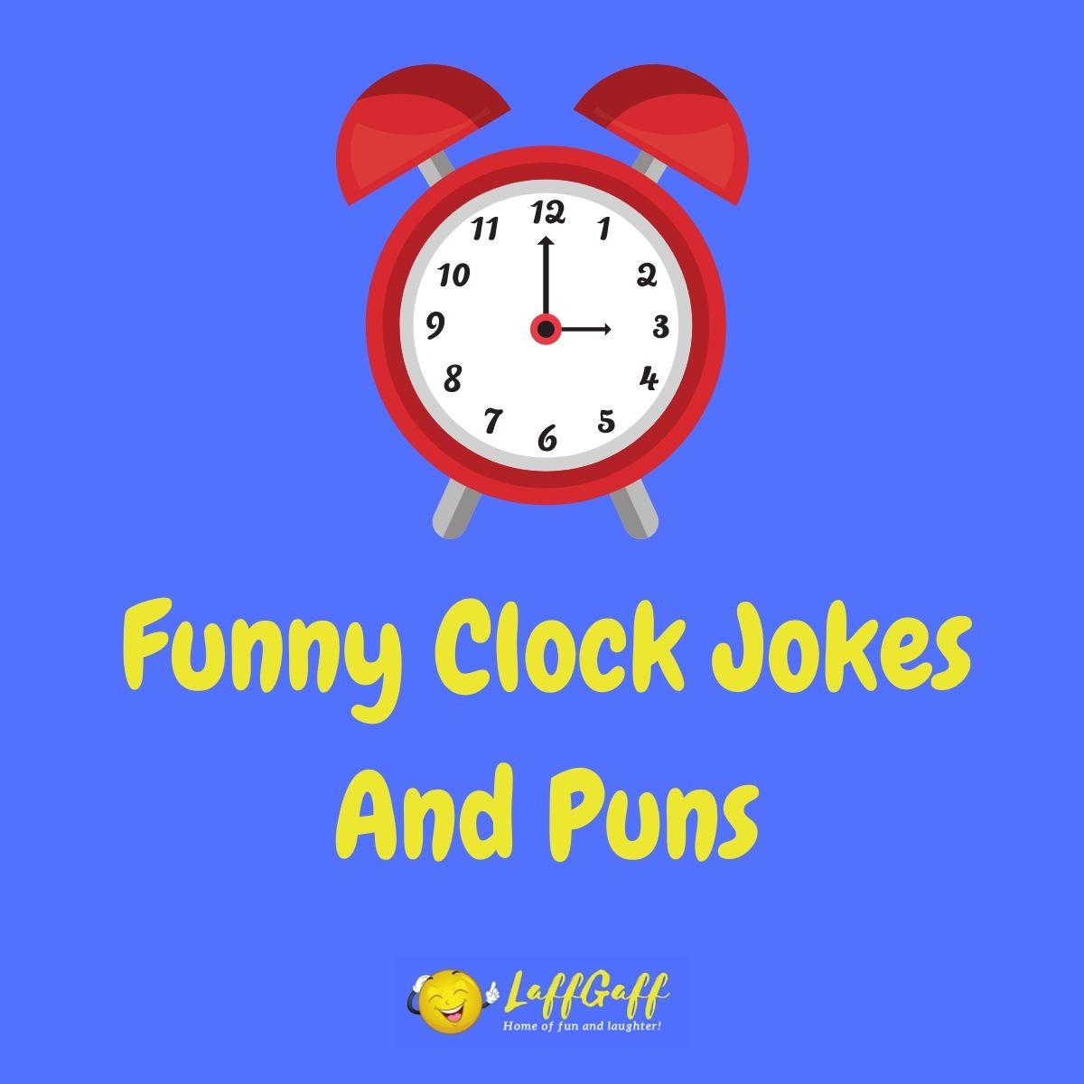 Featured image for a page of funny clock jokes and puns.