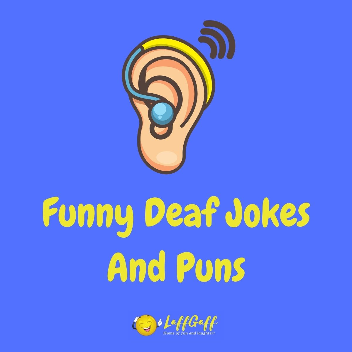 Featured image for a page of funny deaf jokes and puns.