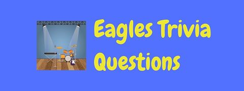 Header image for a page of Eagles trivia questions and answers.