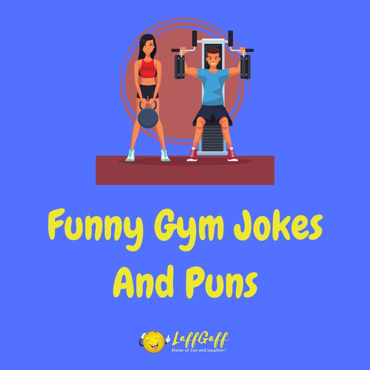 Featured image for a page of funny gym jokes and puns.