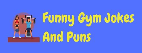 Header image for a page of funny gym jokes and puns.