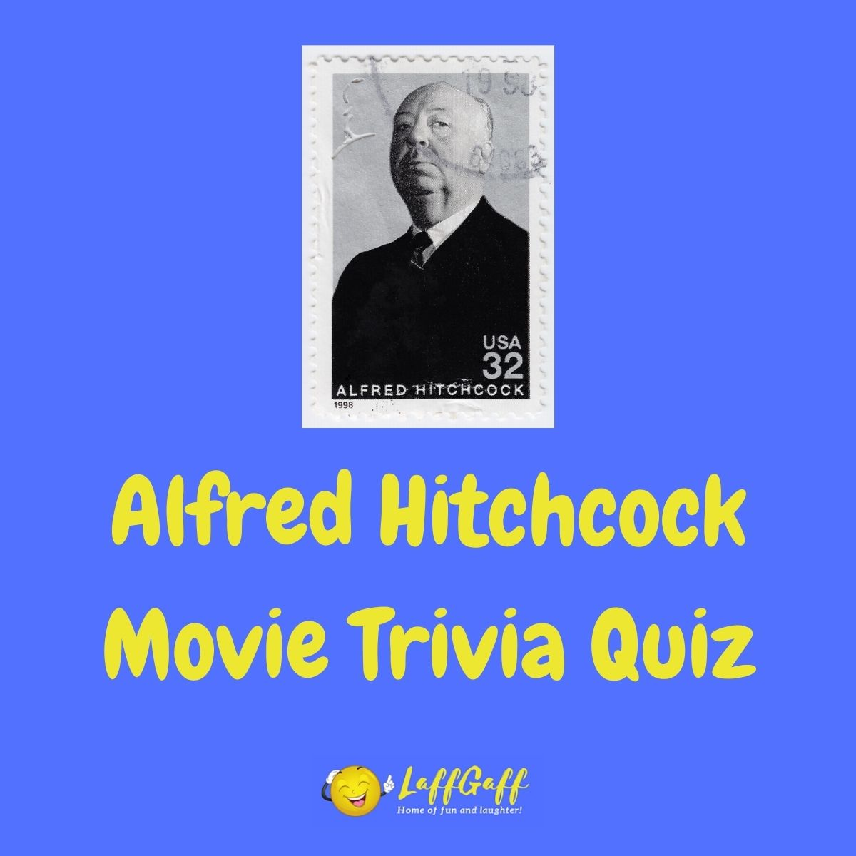 Featured image for a page of Alfred Hitchcock movie trivia questions and answers.