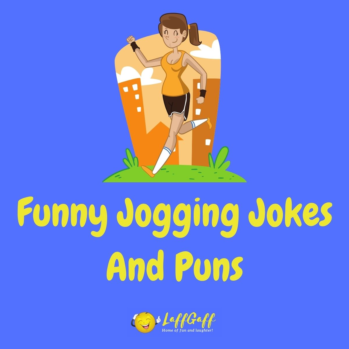 Featured image for a page of funny jogging jokes and puns.