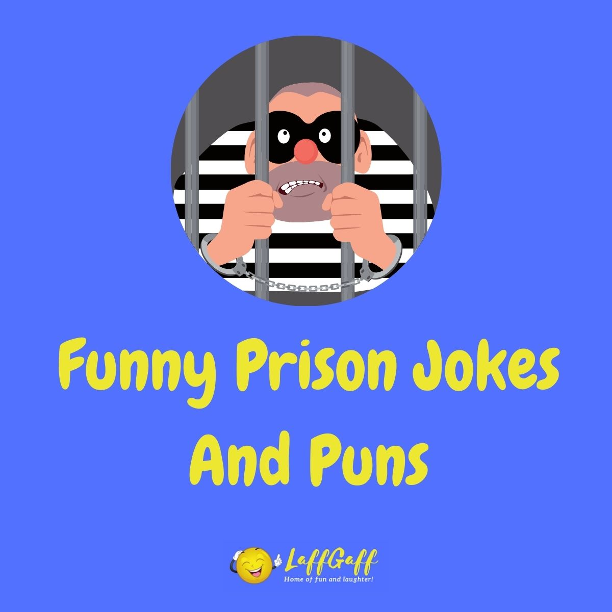 Featured image for a page of funny prison jokes and puns.