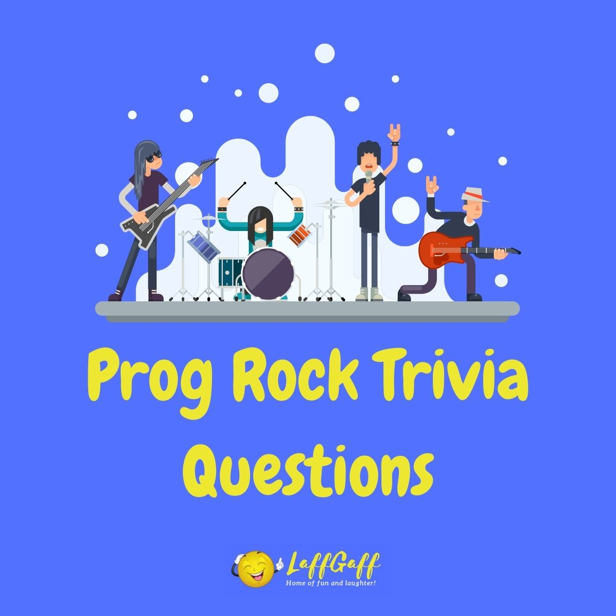 Featured image for a page of prog rock trivia questions and answers.