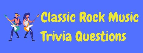 Header image for a page of classic rock trivia questions and answers.