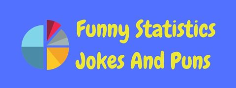 Header image for a page of funny statistics jokes and puns.