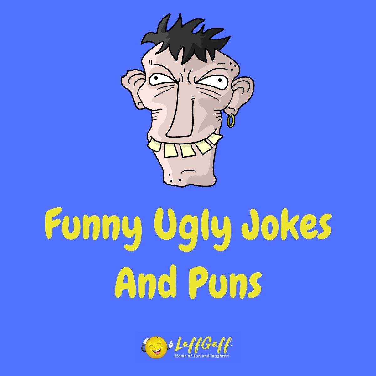 Featured image for a page of funny ugly jokes and puns.