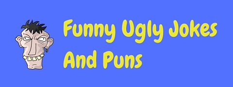 Header image for a page of funny ugly jokes and puns.