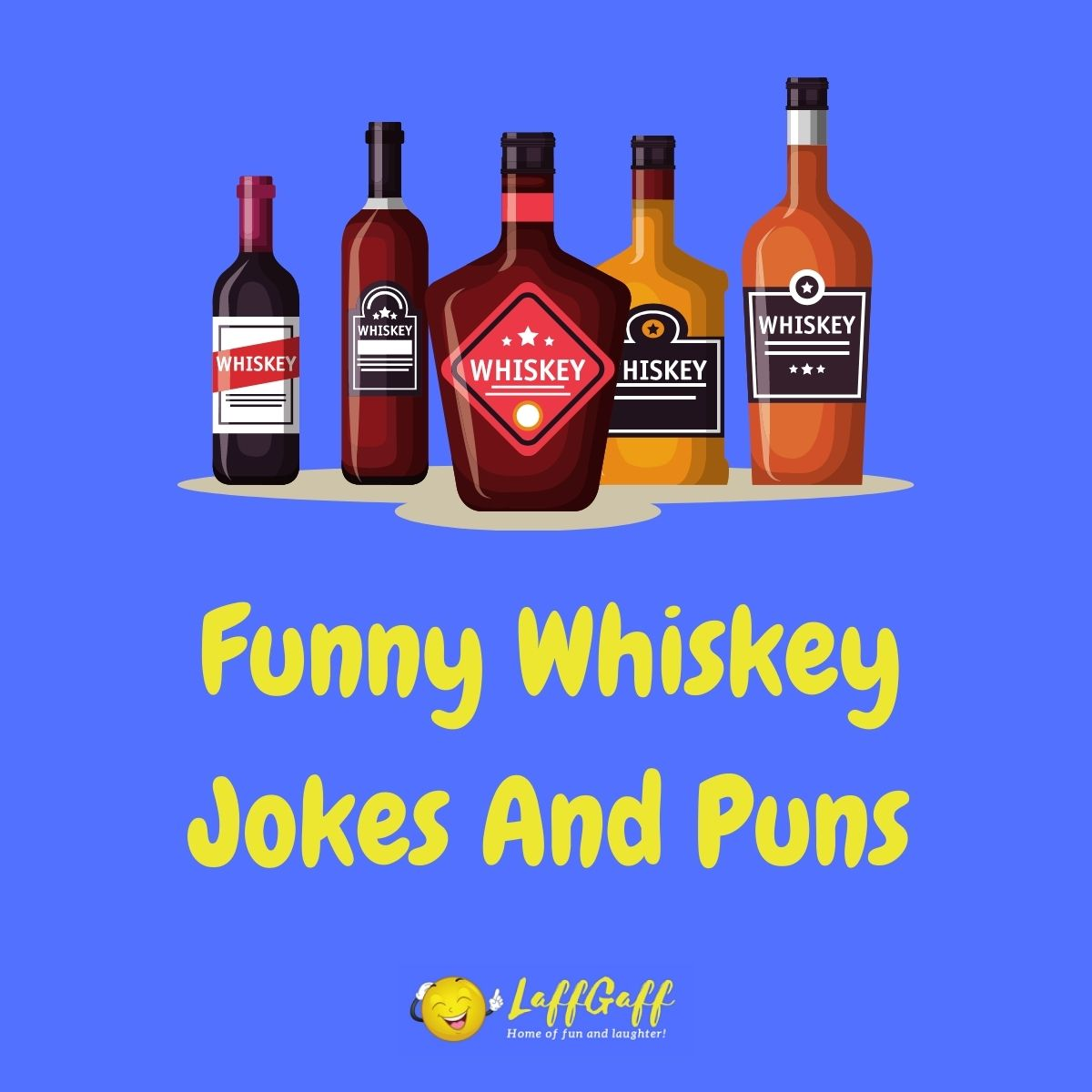 Featured image for a page of funny whiskey jokes and puns.