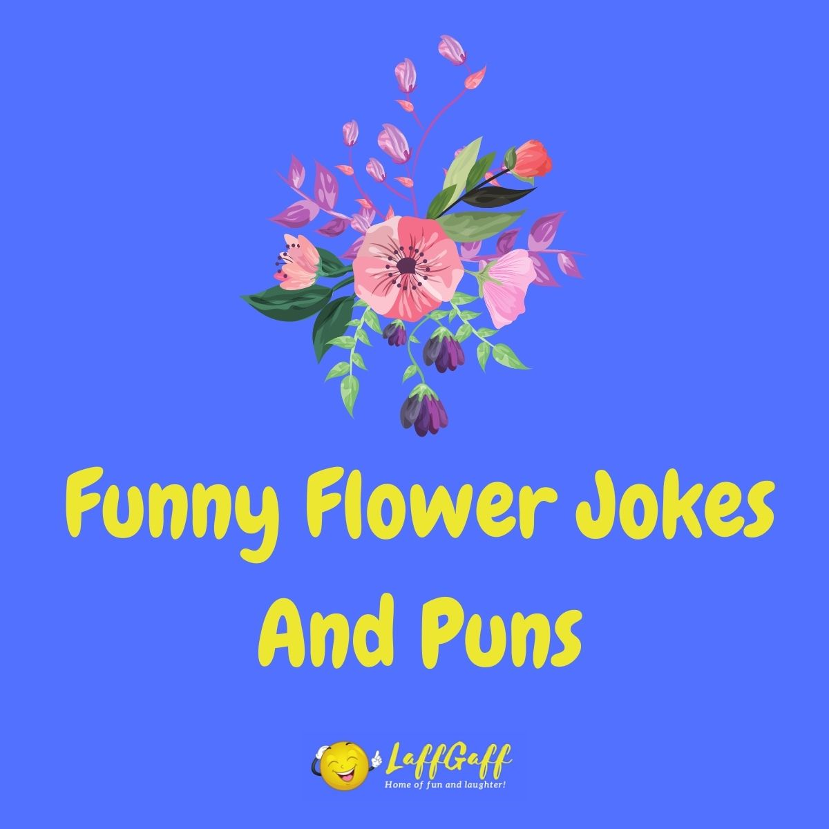 Featured image for a page of funny flower jokes and puns.